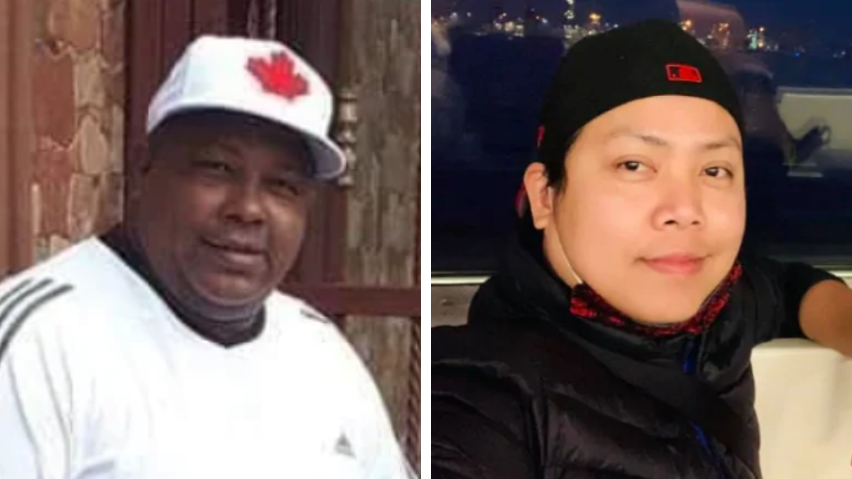 Olymel workers Henry De Leon, left, and Darwin Doloque, right, died of COVID-19. (Henry De Leon/Facebook, Darwin Doloque/Facebook)