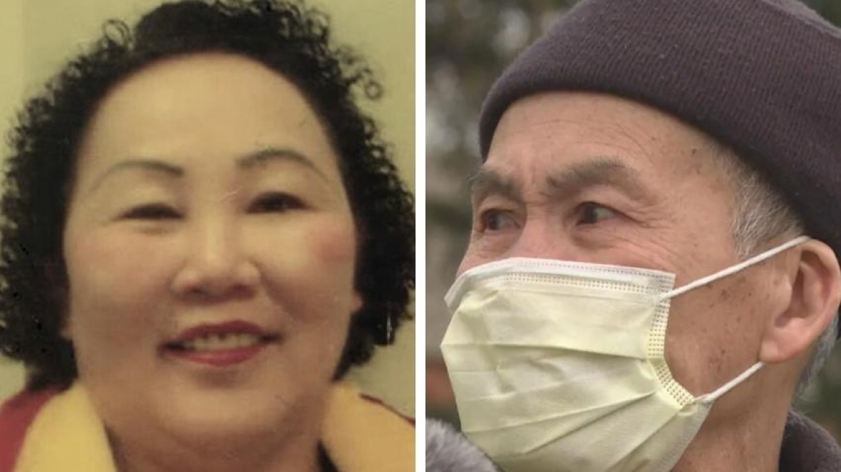 Hiep Bui, left, and husband Nga Nguyen. Bui died of COVID-19 amid an outbreak that has affected hundreds of her fellow workers at Cargill. (ActionDignity Facebook page, Dave Gilson/CBC)