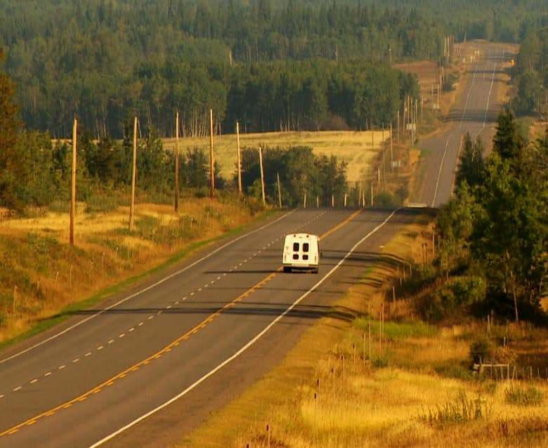 B.C.'s northern highways have few public transportation options. (Dillon Hodgin/CBC)