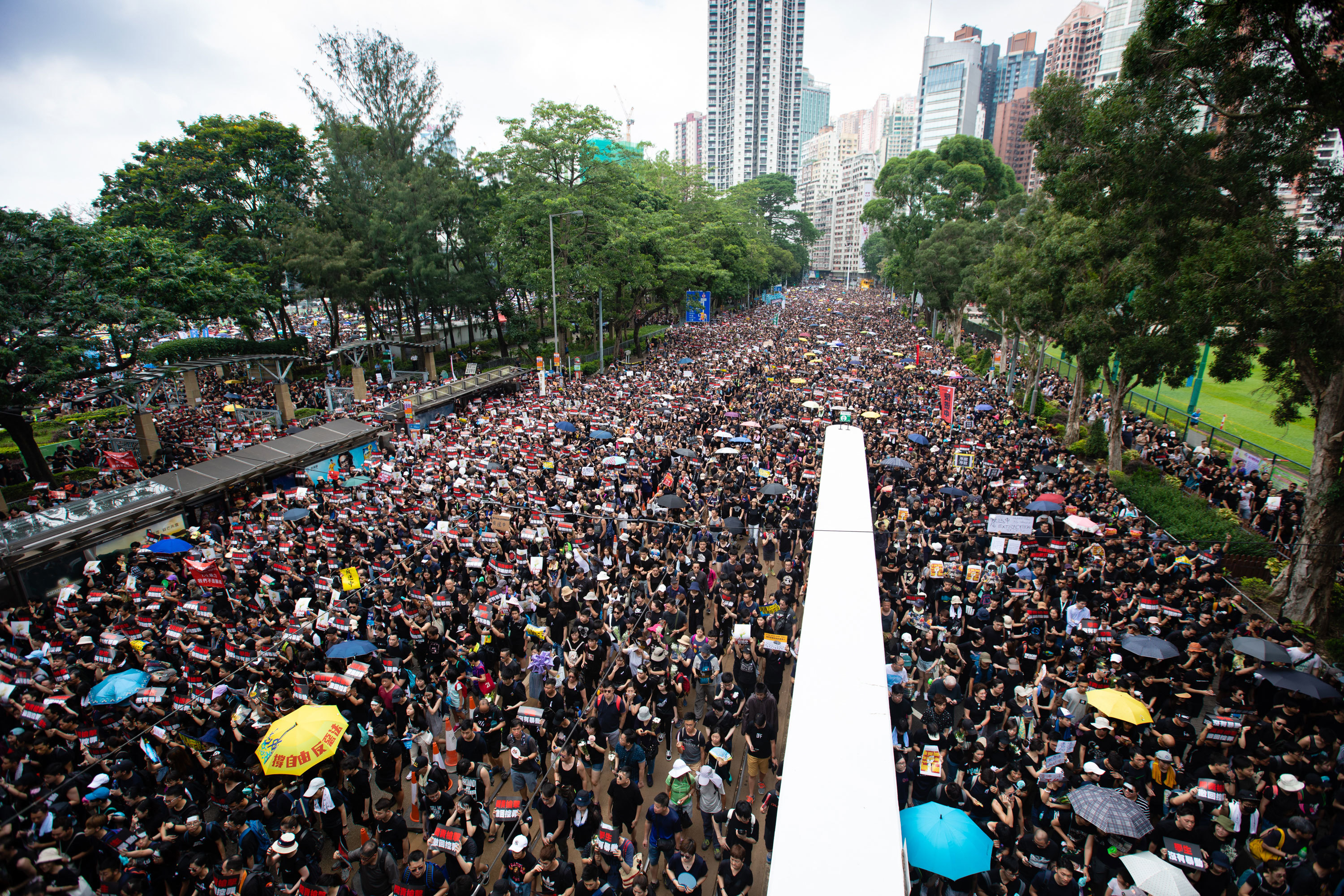 Demonstrations against the extradition bill have brought millions of Hong Kongers onto the street in recent weeks. (Saša Petricic/CBC)