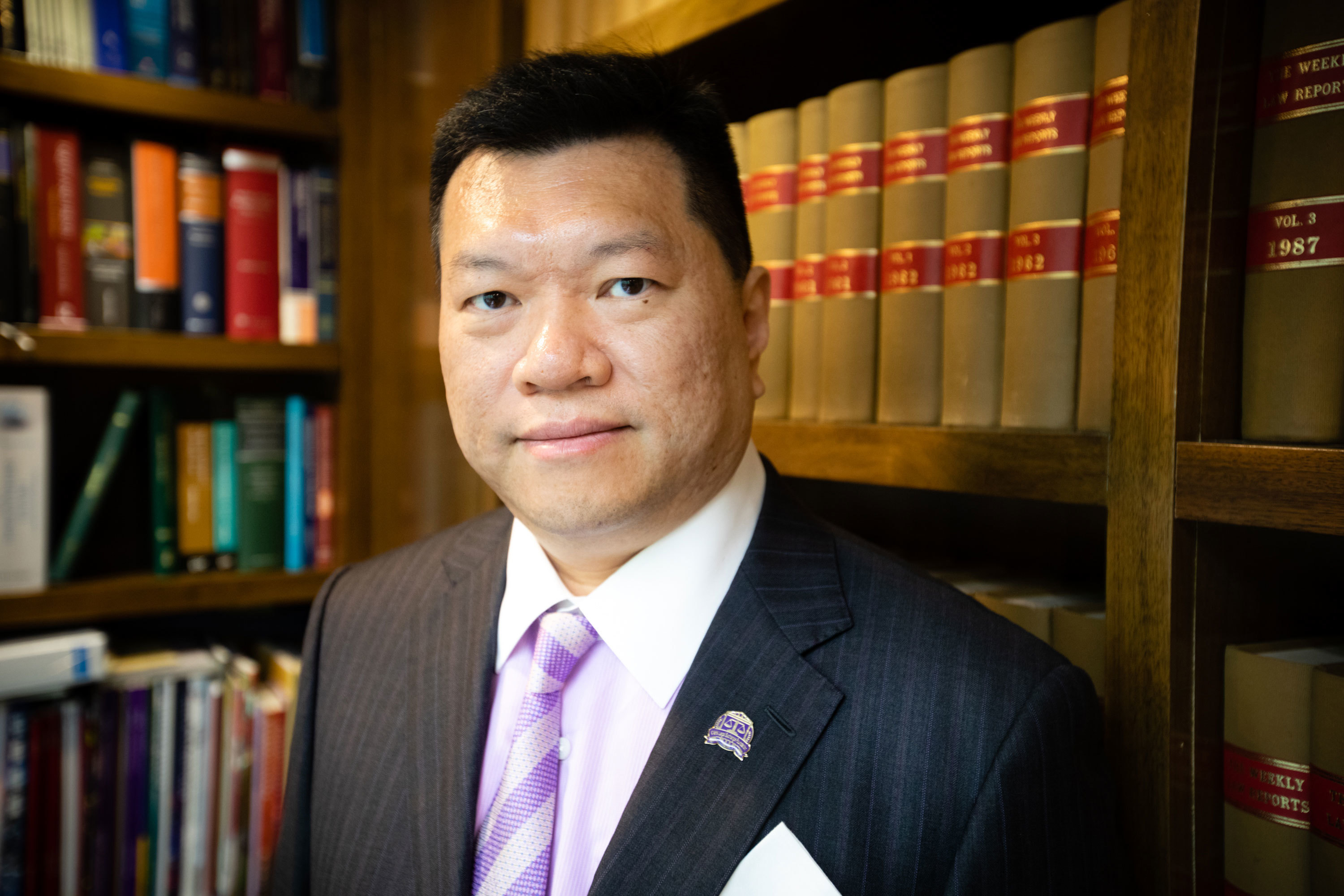 Lawyer Lawrence Ma, who is pro-Beijing, said Chinese involvement in Hong Kong guarantees the kind of economic and social stability seen on the mainland. (Saša Petricic/CBC)