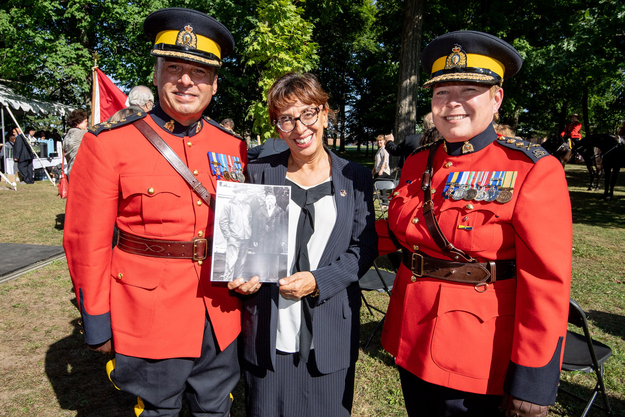 James Malizia, left, Joyce Pillarella and RCMP Commissioner Brenda Lucki in 2018, during a ceremony in Ottawa to mark the Mounties' expression of regret for the internment of Italian-Canadians during the Second World War. (Submitted by James Malizia)