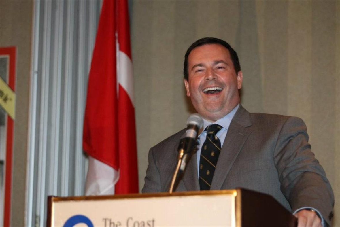 Jason Kenney, now Alberta's premier, was the federal minister for citizenship and immigration when he spoke during a reunion of Alberta Report staffers in 2011. (Tom Braid)