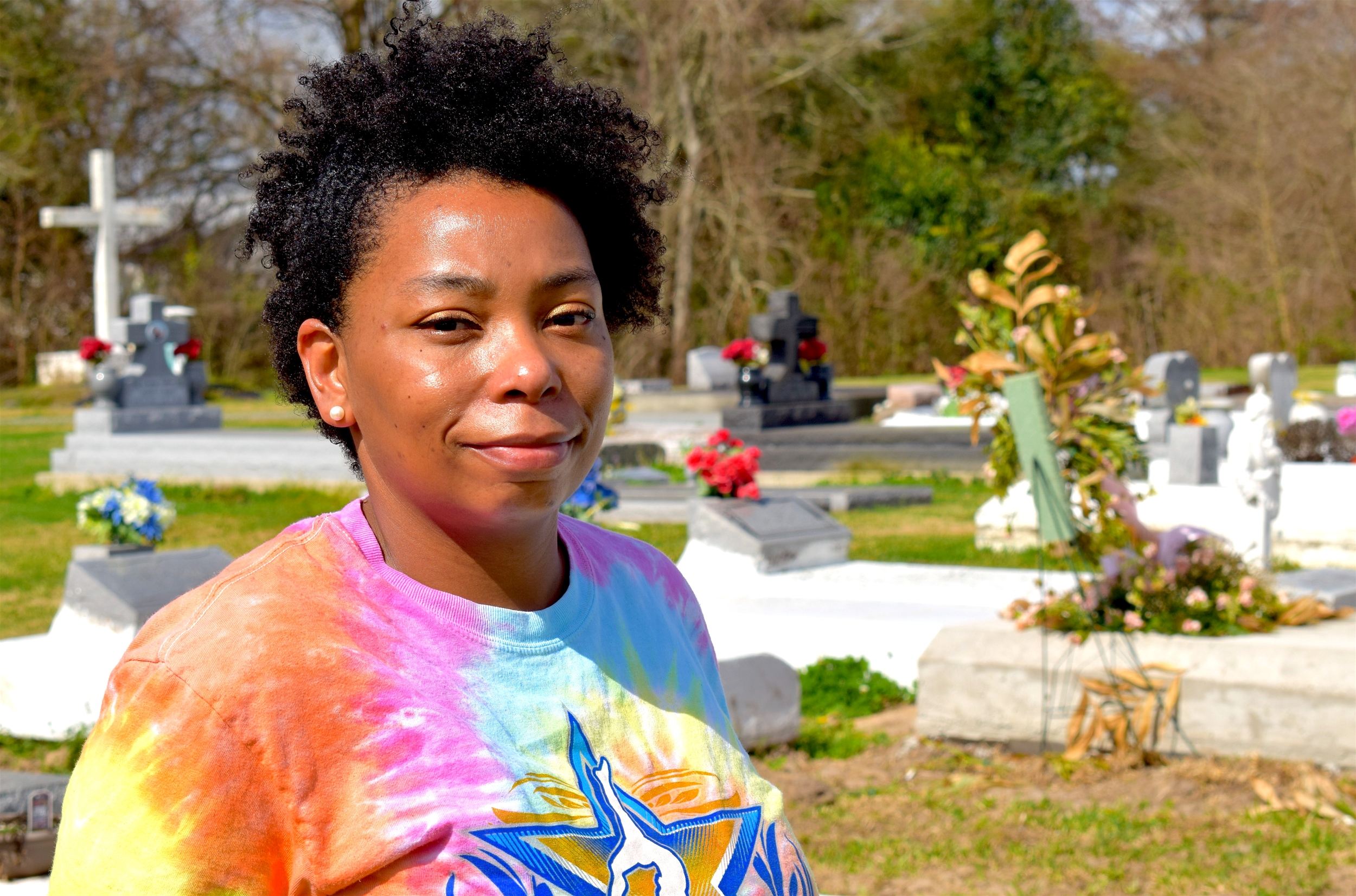 Jessica Tilson grew up and still lives in Maringouin, La., where the slaves sold by Georgetown ended up in 1838. (Ellen Mauro/CBC)