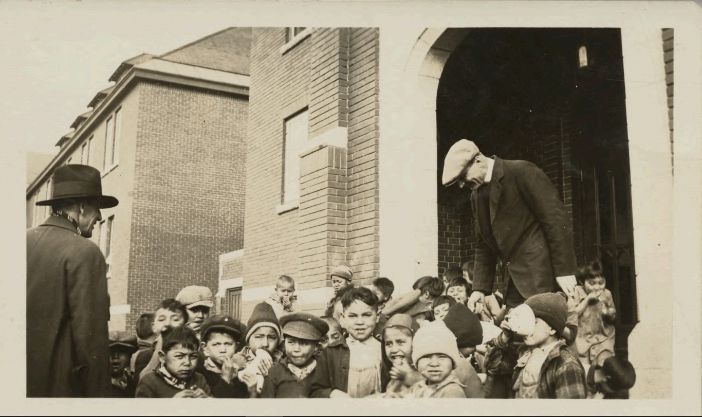 A photo from 1931, taken at the Kamloops residential school. (National Centre for Truth and Reconciliation)