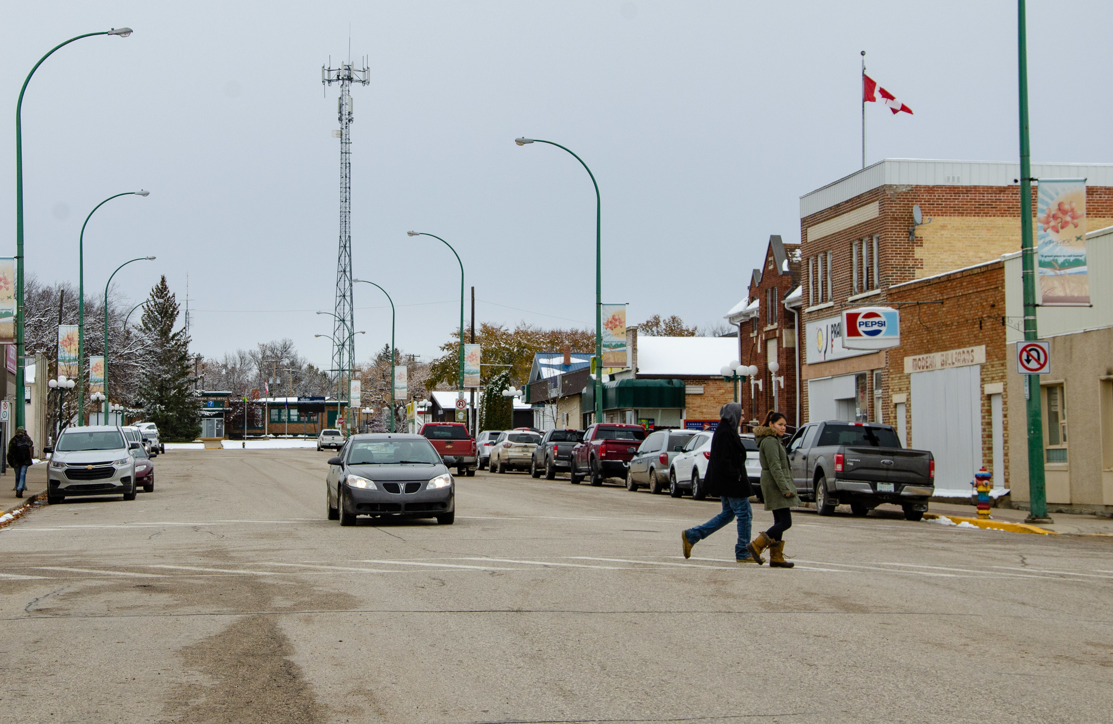 Many businesses are closed or boarded up and several homes are listed for sale in Kamsack.