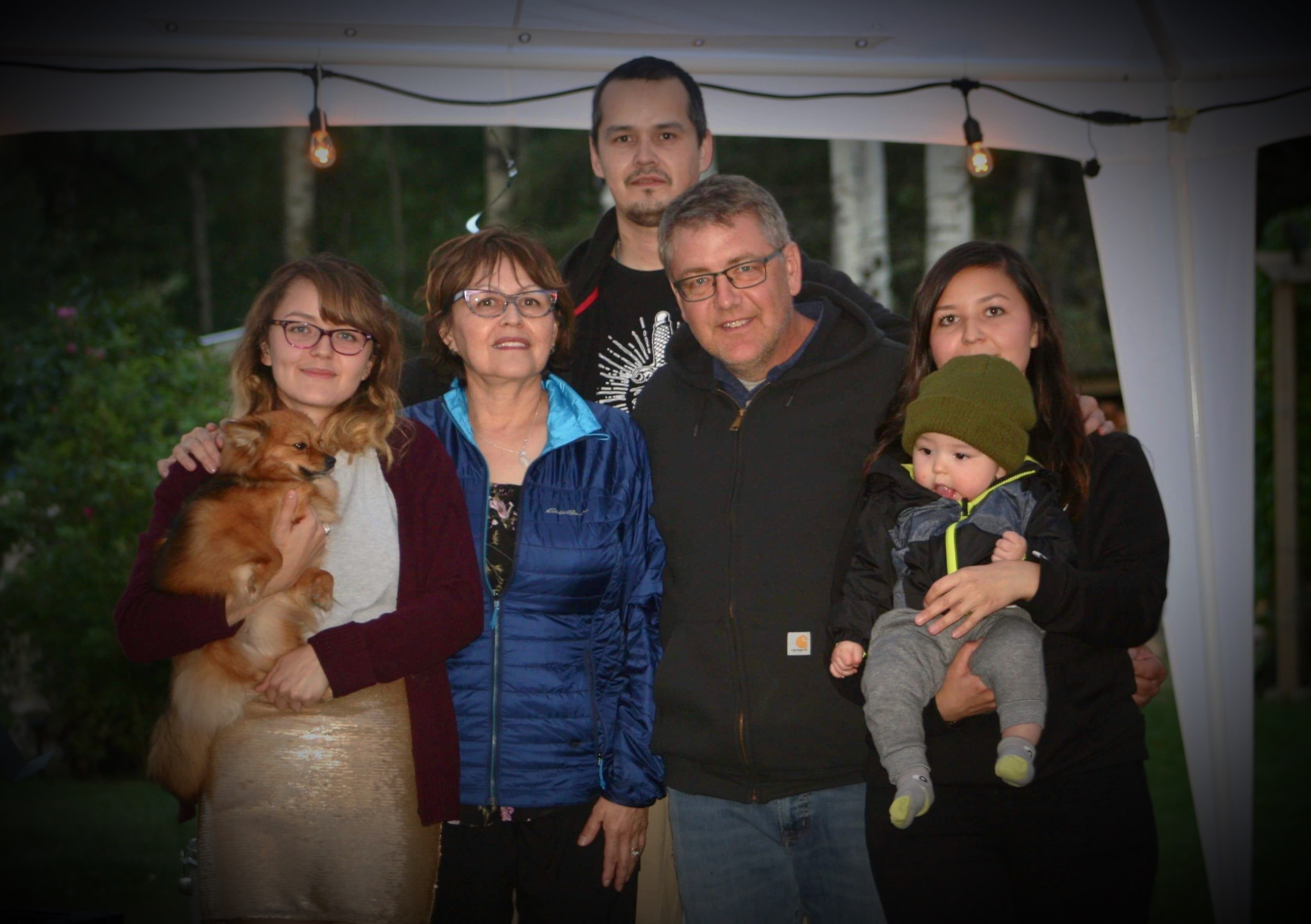 As a young teacher, Mark Klein married a social worker from Clearwater River Dene Nation. They have three children and a grandson. (Submitted by Mark Klein)