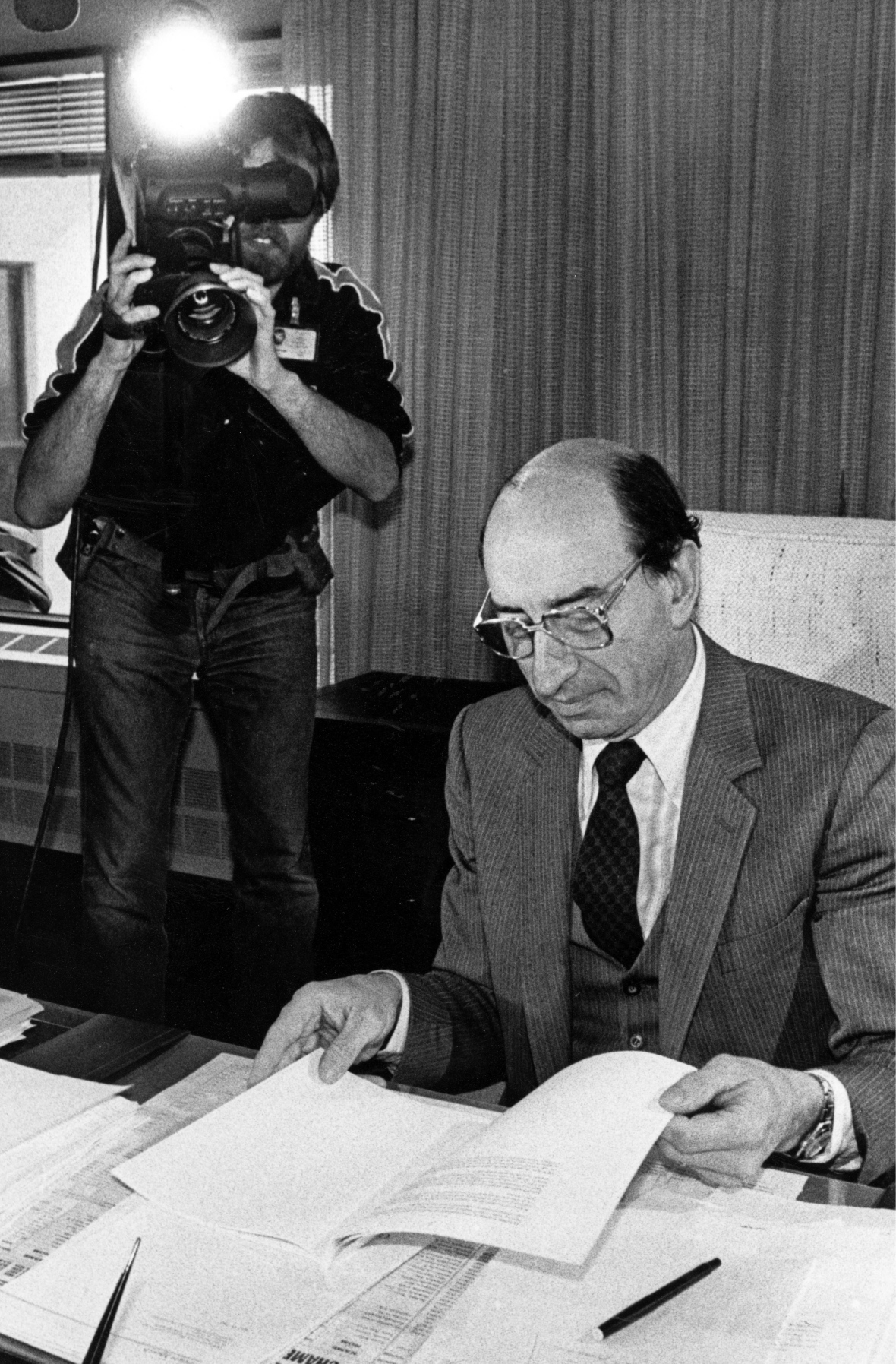 Marc Lalonde, pictured as federal finance minister in 1983, insisted the NEP was a fair deal with the provinces when it was introduced. Photo: Fred Chartrand/The Canadian Press