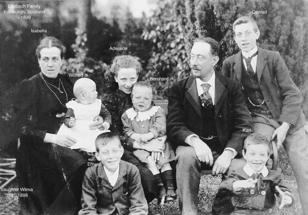 Franklin Laubach, seen here with his family, was already a prolific musician when he moved to Regina in the early 1900s. (RSO Archives)