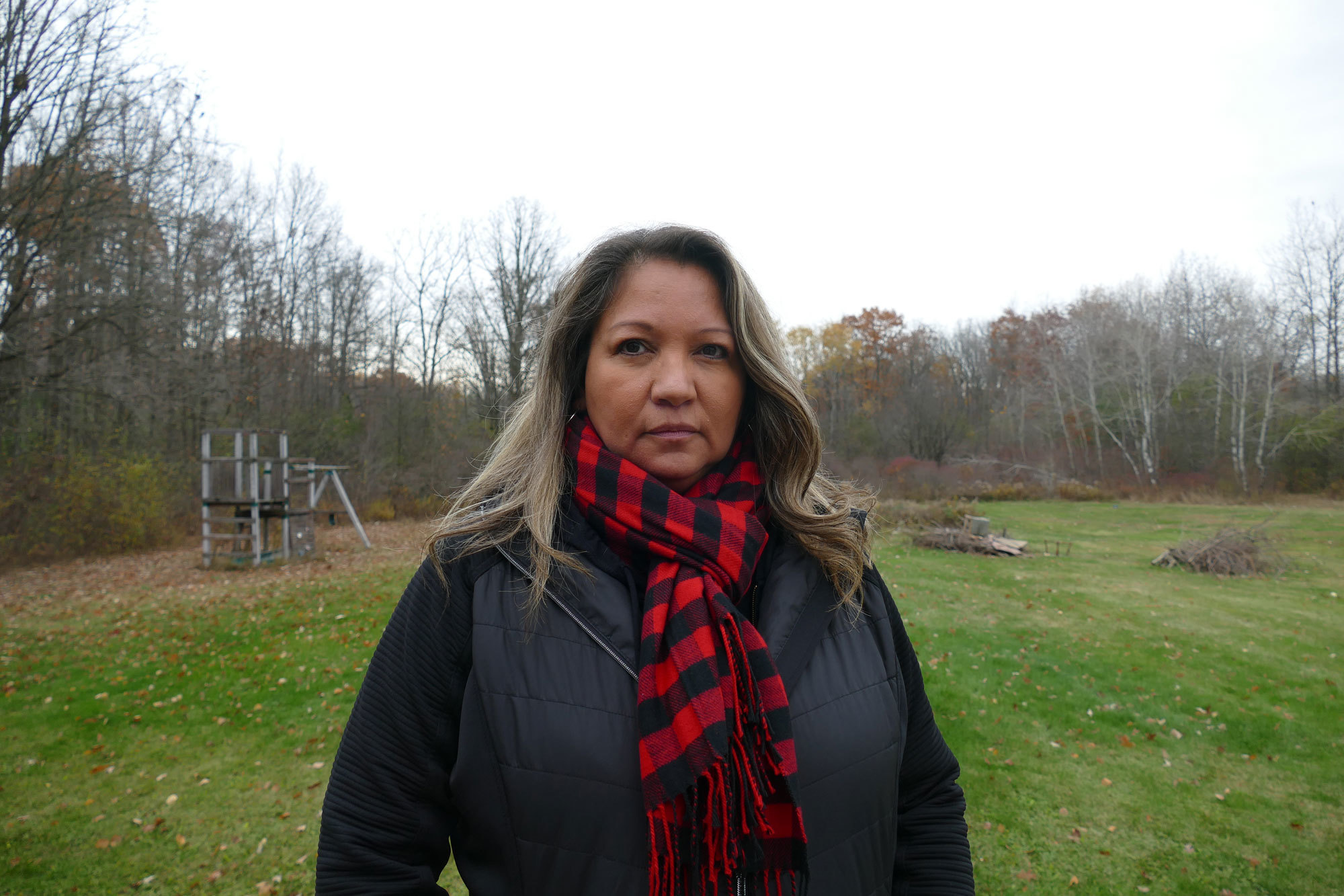 Tracy Bomberry witnessed OPP officers arrest a Six Nations man involved with 1492 Land Back Lane who was suffering a mental health crisis. (Jorge Barrera/CBC)