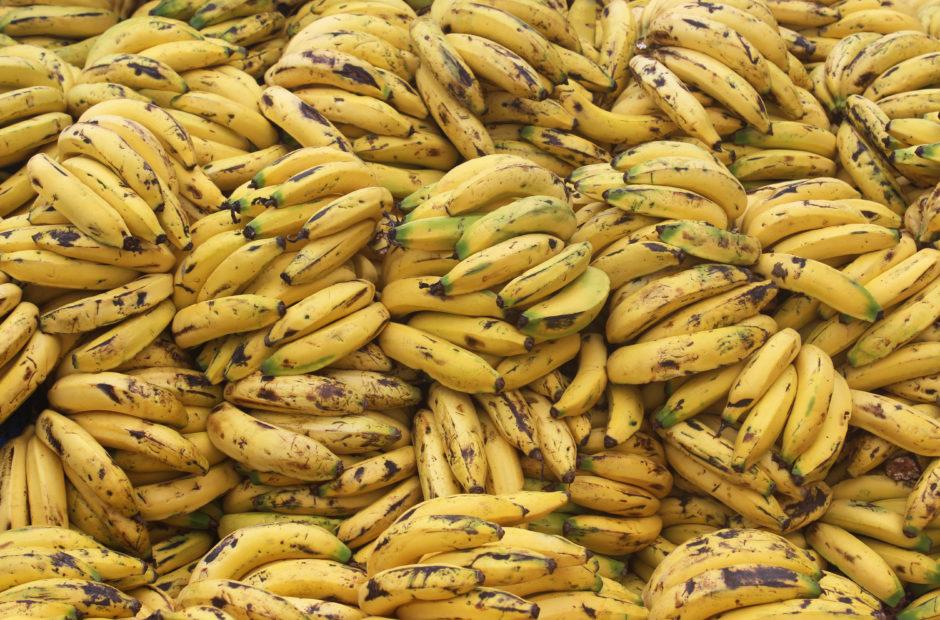 Bananas in a cart in Tegucigalpa's farmer's market.