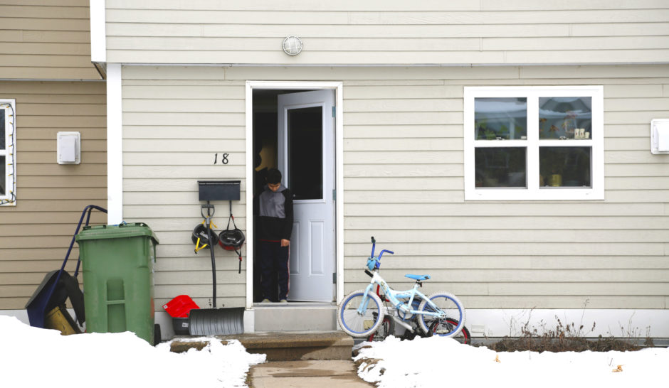 The Doone Street housing units in Fredericton's north side. (Maria Jose Burgos/CBC)