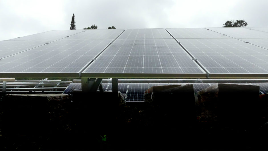 Solar panels installed at Tallpine Lodges in West Hawk Lake