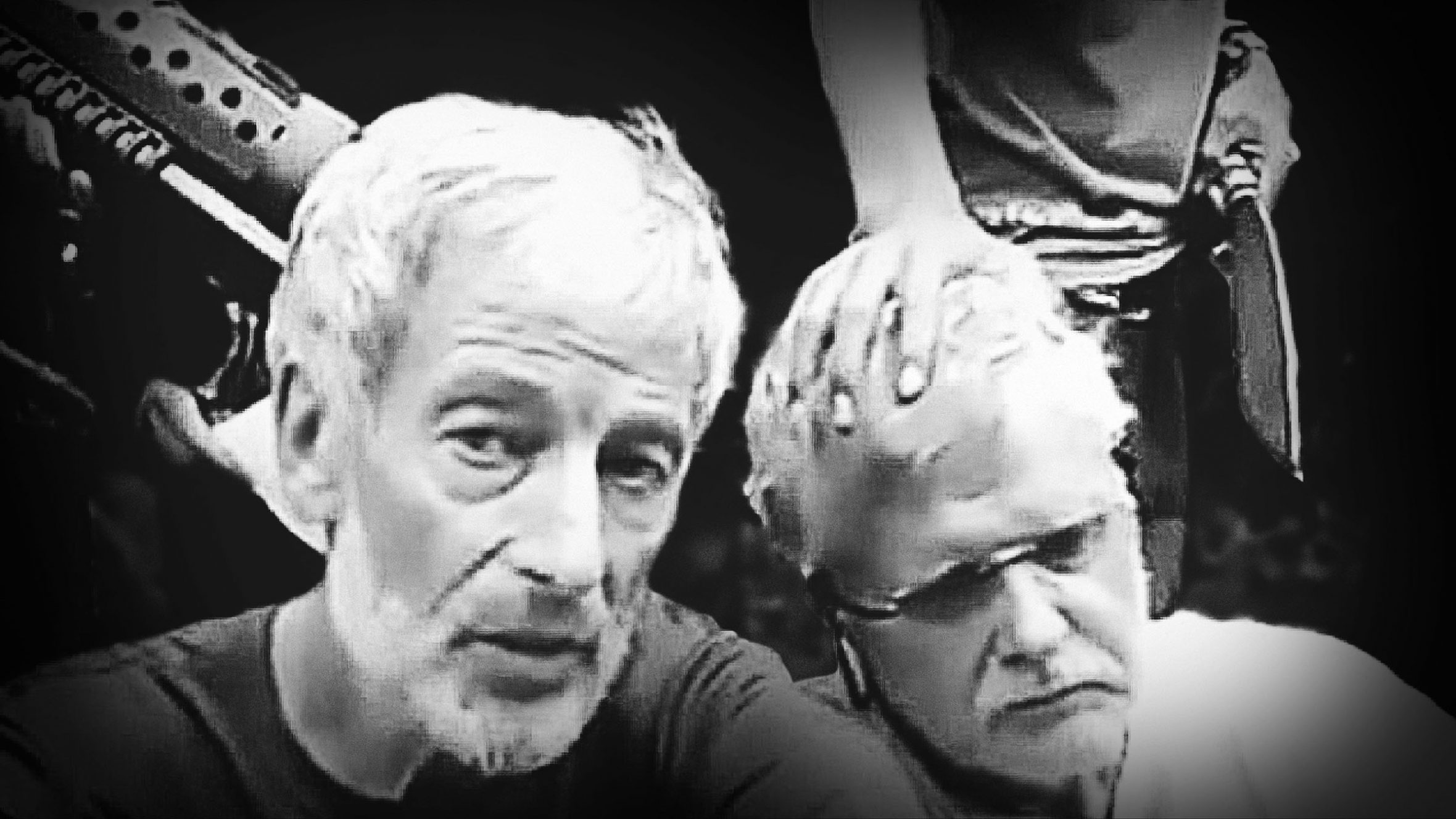 Robert Hall and John Ridsdel as they appeared in a kidnapping video by the Filipino militant group Abu Sayyaf