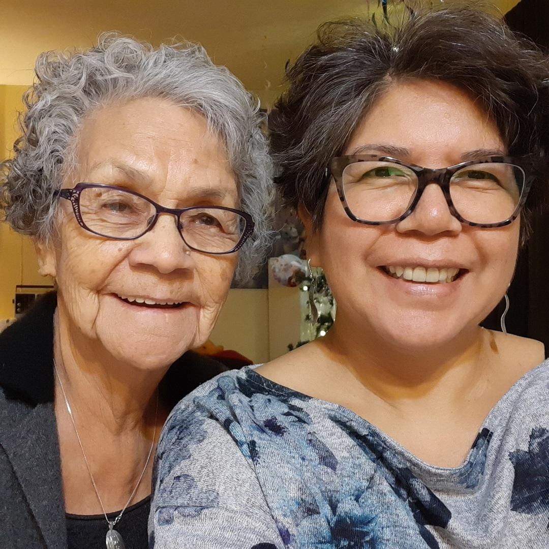 Lilly Whonnock, left, and her daughter Linda Whonnock were both diagnosed with COVID-19 and shared a hospital room during Lilly's last days. (Submitted by Linda Whonnock)