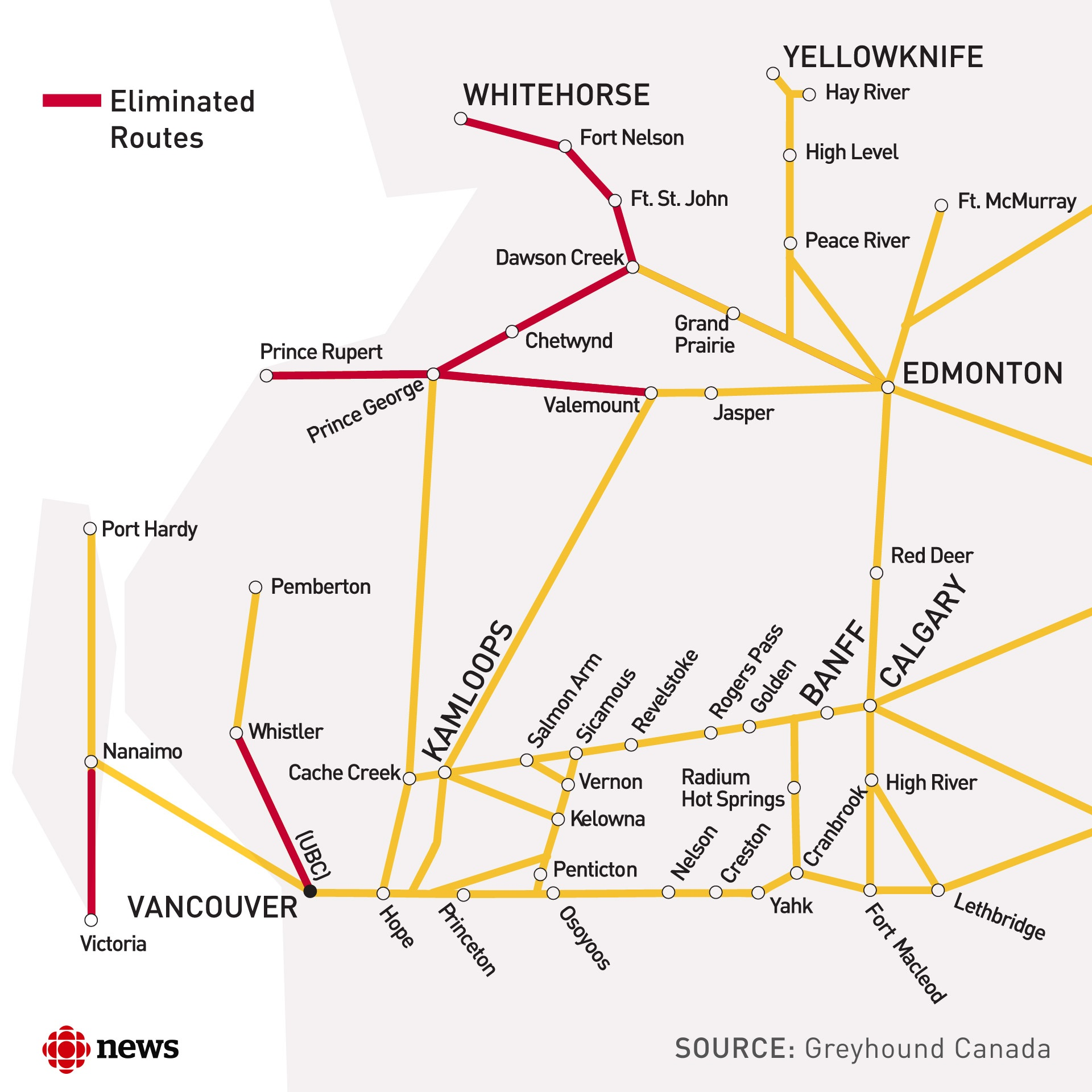 Greyhound Usa Map.It Leaves A Lot Of People Unsafe Cbc News