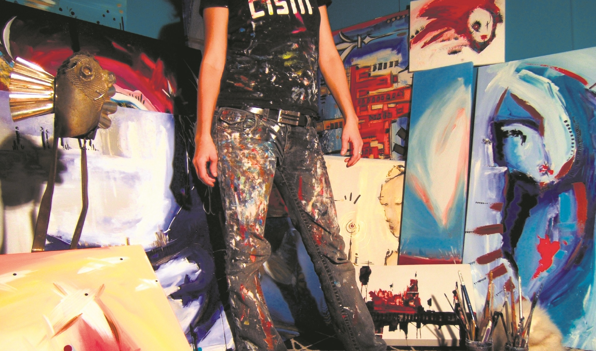 Mélissa Deschênes emphasized bright, punchy colours in her artwork. (Pierre Rochette)