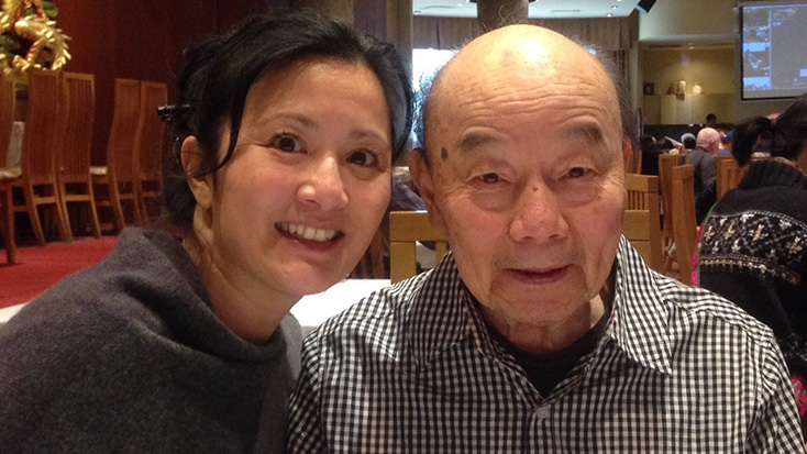 Ming Ball Lee and his daughter, Nancy Lee, used to go for dim sum in Vancouver's Chinatown. Ming Ball died in March 2020 in North Vancouver. (Submitted by Nancy Lee)