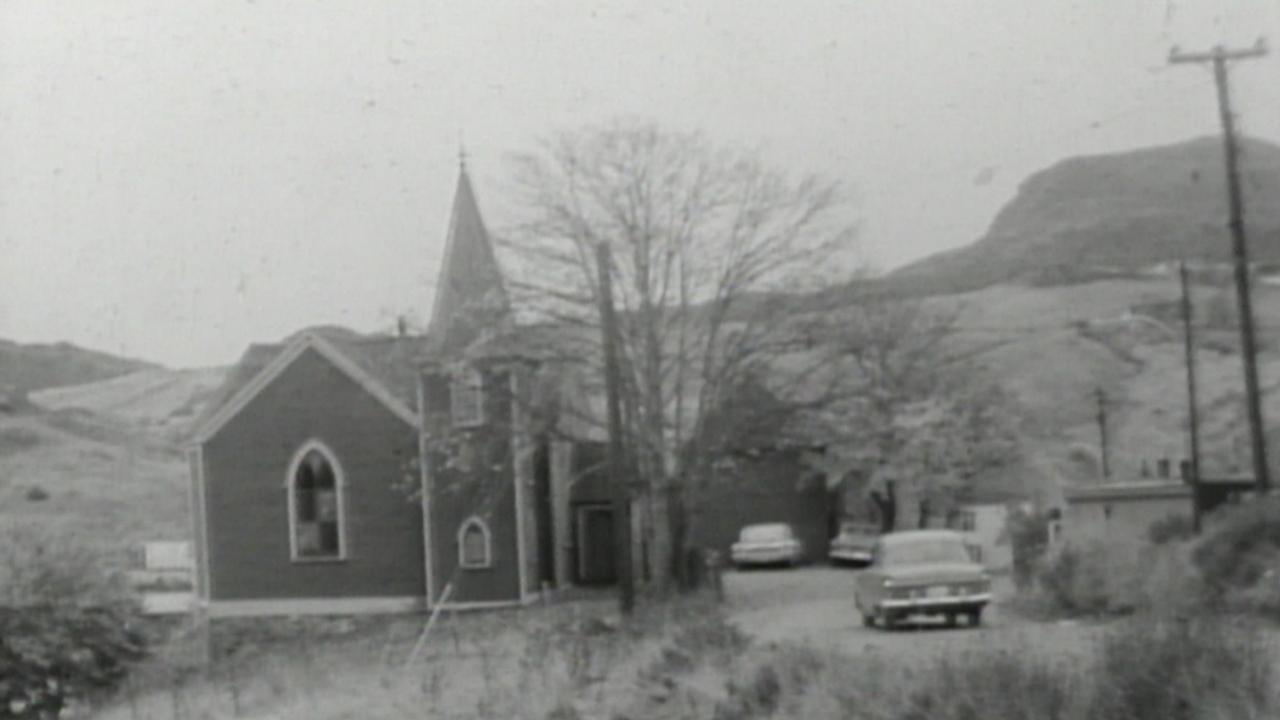 Undated footage of the Anglican church in Quidi Vidi Village. (CBC)