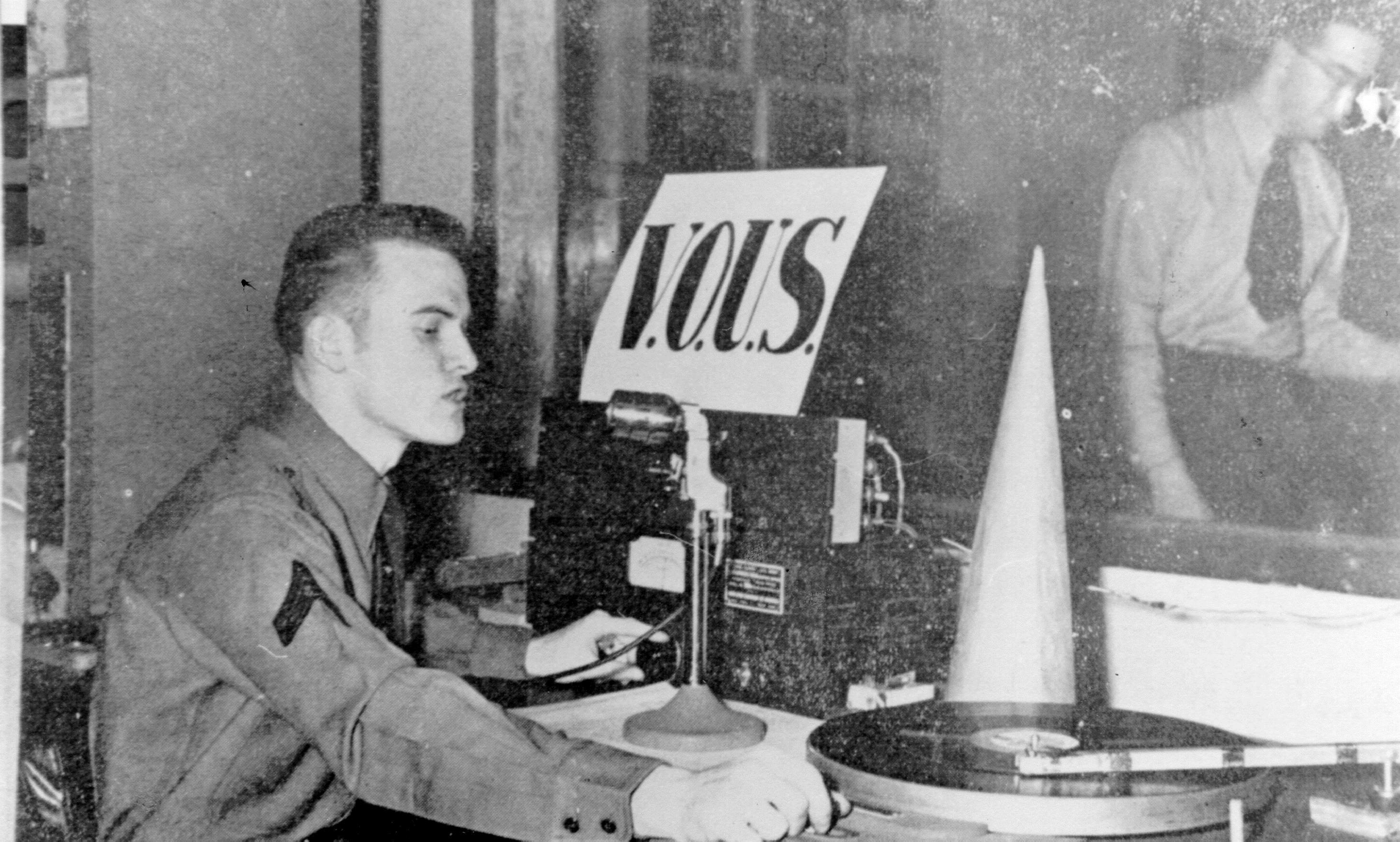 An undated photo of Fort Pepperrell's radio station, VOUS. (MUN Maritime History Archive)
