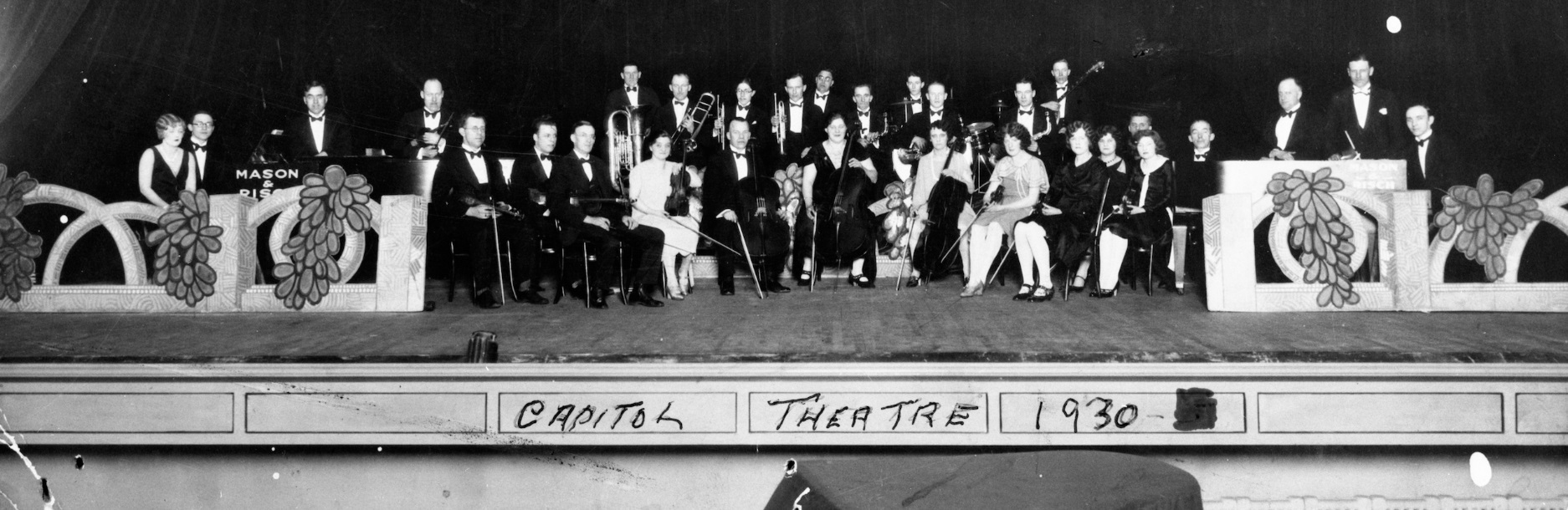 The popular Quaker Oats Orchestra concerts, broadcast live over the radio from the Capitol, began in about 1933. (Saskatoon Public Library Local History Room; item PH-88-590)