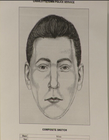 A sketch artist came up with this profile of a suspect for a different crime — which police believe may be connected to Carr's murder. (Submitted by Charlottetown Police)