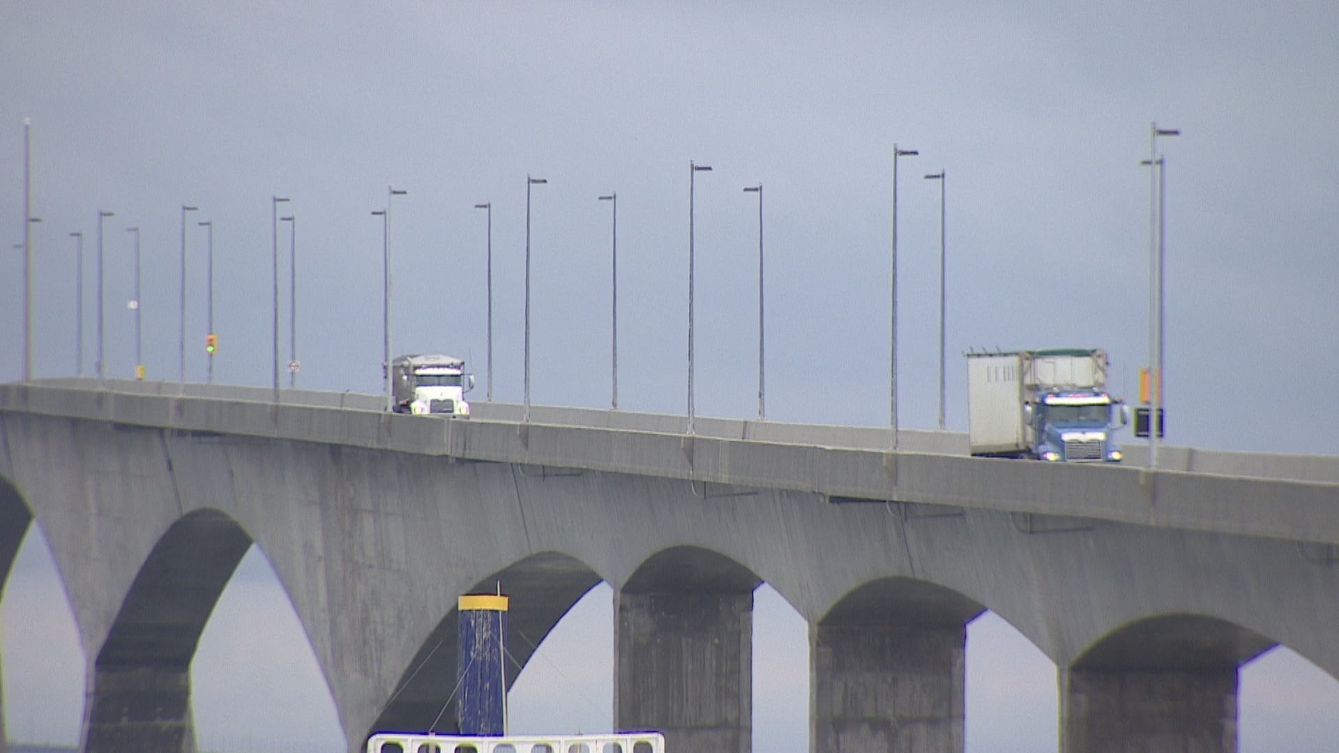 'We've got no choice — we live on an island,' Kimball Johnston says of using the Confederation Bridge. (Shane Hennessey/CBC)