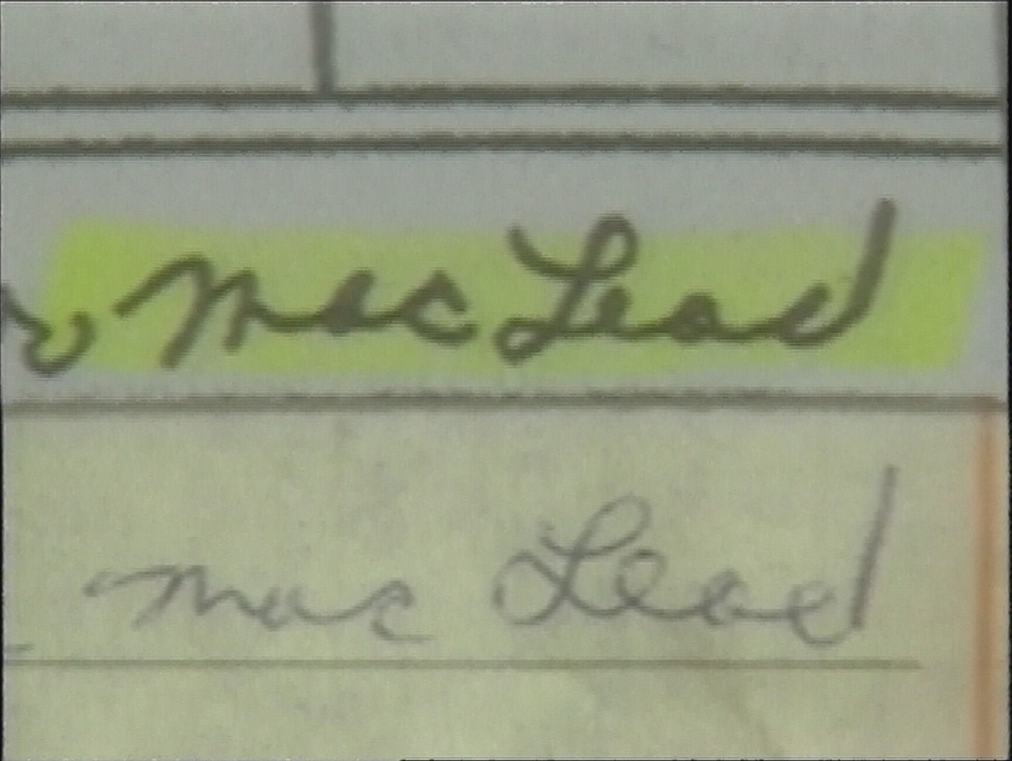Police used handwriting samples of Bell's from school to compare against a receipt from a plumbing store in Moncton. (CBC)