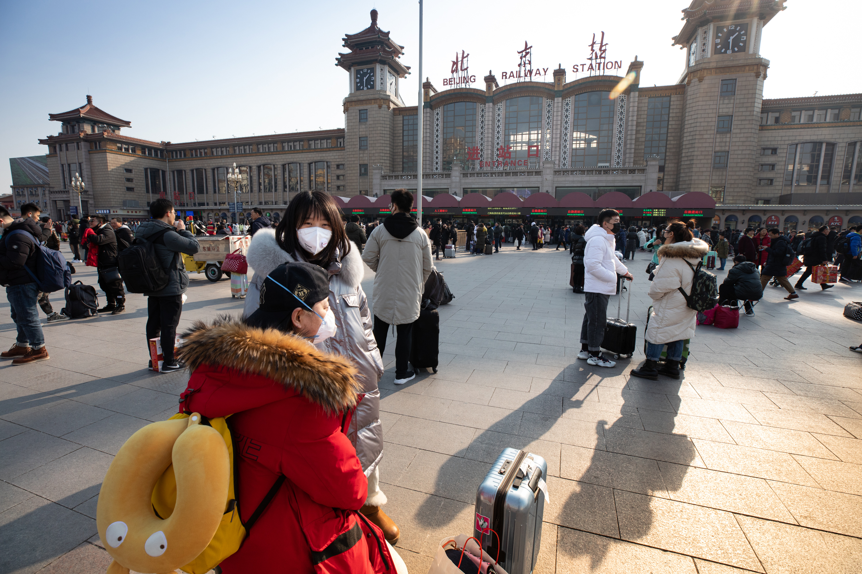 Despite COVID-related lockdowns in large areas of China, millions jammed the railways to visit family for Lunar New Year holidays in January, thus spreading the virus. (Saša Petricic/CBC)