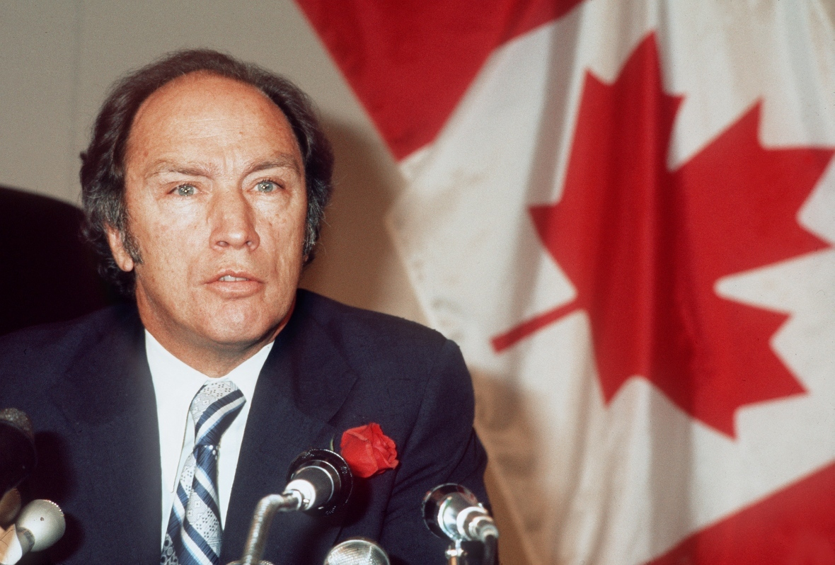 As prime minister, Pierre Trudeau became the chief antagonist in countless columns penned by Byfield. In 1980, Byfield proclaimed that the implementation of the National Energy Program was the 'blackest day' in Alberta history. (AFP/Getty Images)