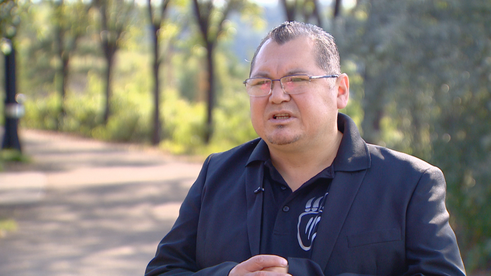 Papaschase First Nation Chief Calvin Bruneau. (CBC Edmonton)
