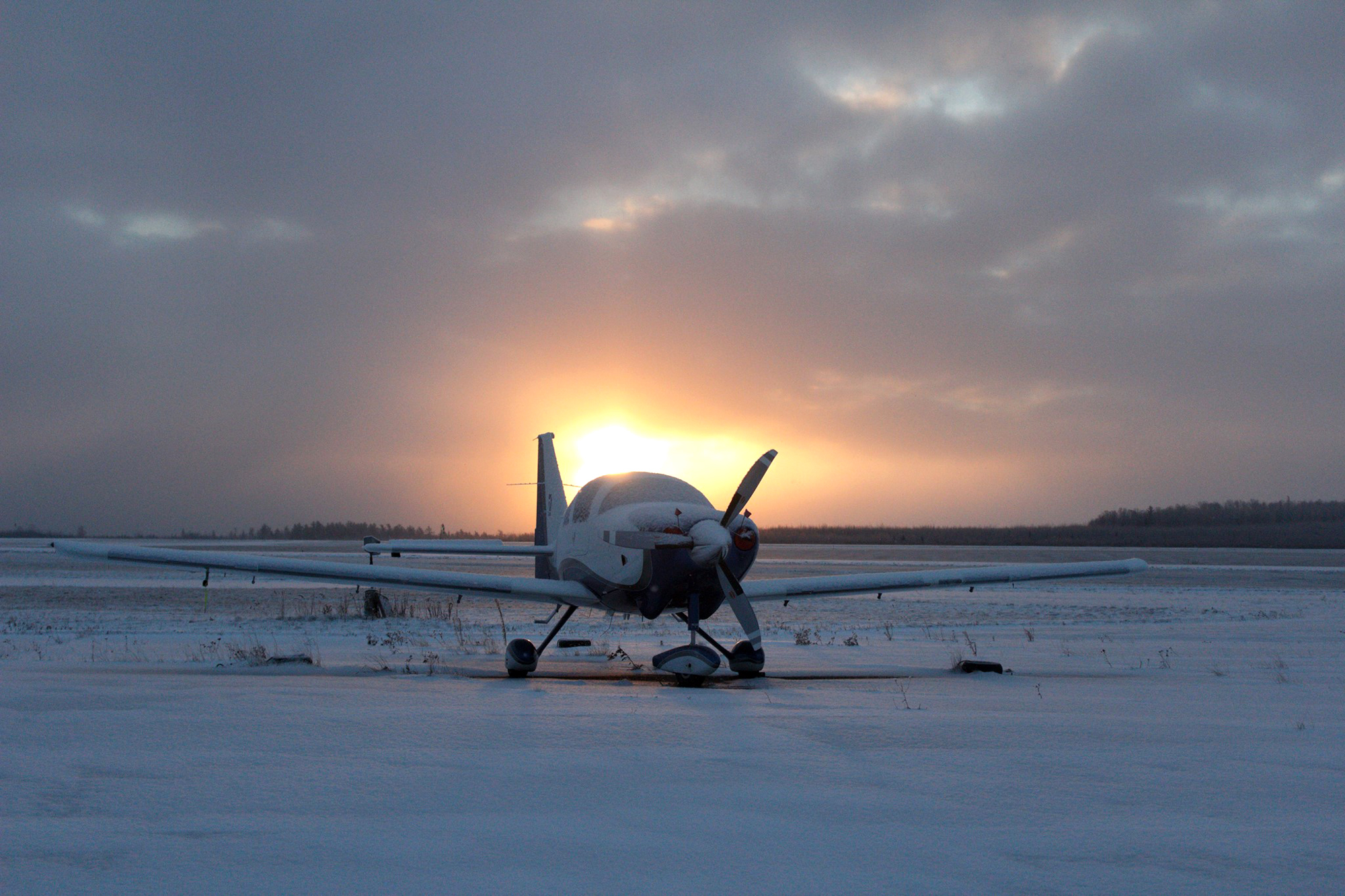 Cotten's Cessna parked at the Truro Flying Club near Halifax. (Denyse Sibley)