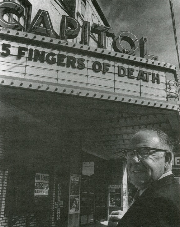 Long-time manager Reg Plub retired in 1978, one year shy of the Capitol's 50th birthday. He returned for the theatre's last show in 1979. (Saskatoon Public Library Local History Room)