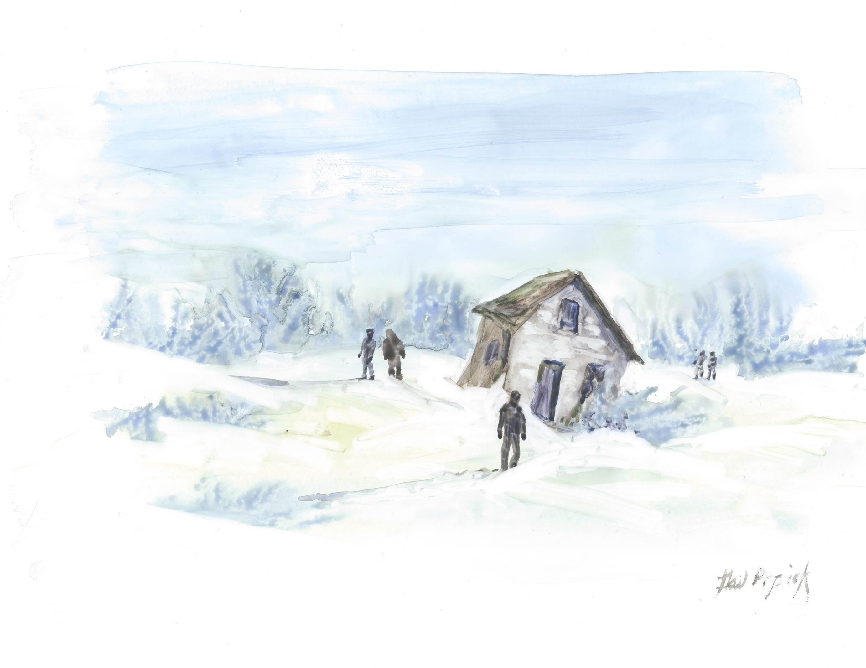 The day Fertuck disappeared, it was unusually mild. But the next day, when the search began, the weather turned and the prairie fields were blanketed with fresh snow. (Gail Prpick/For CBC)