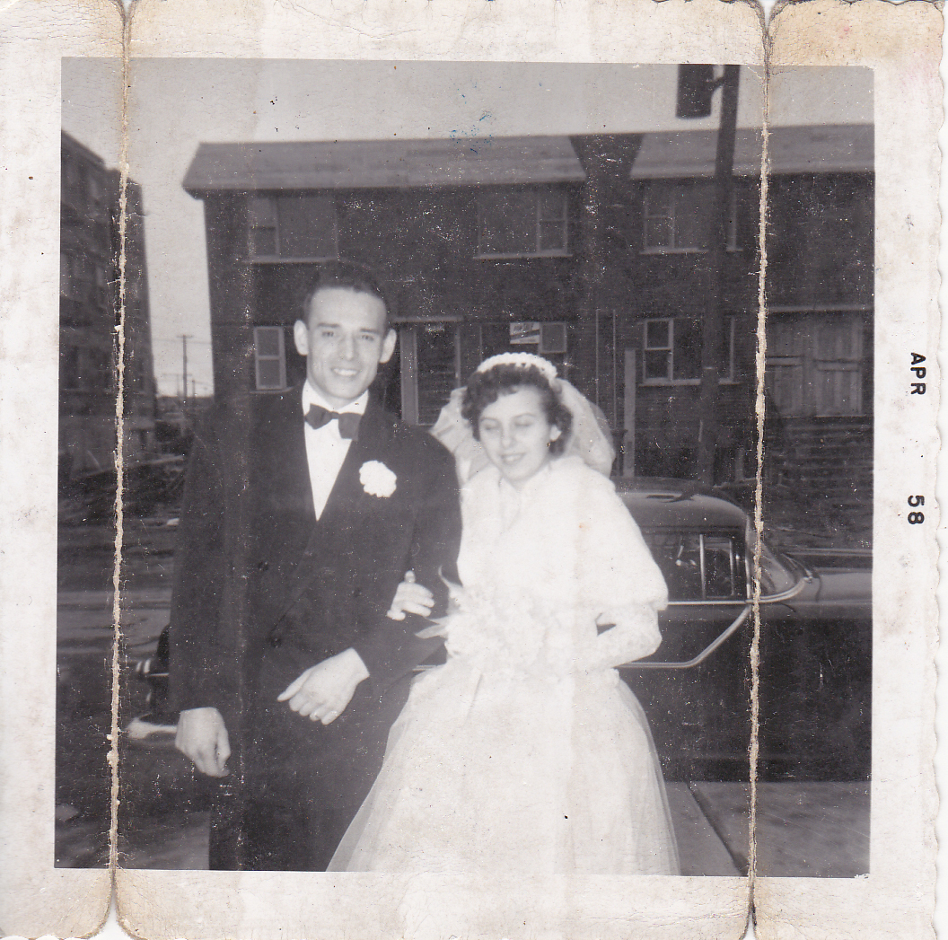 François Schirm and his wife, Elizabeth, on their wedding day in 1958. (Submitted by Sylvie Schirm)