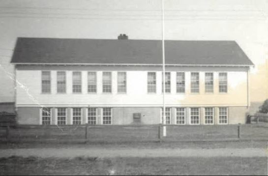 A two-storey combined school and convent was opened in 1948 to replace the original one-room schoolhouse on Lennox Island. (From the collection of Judy Clark)