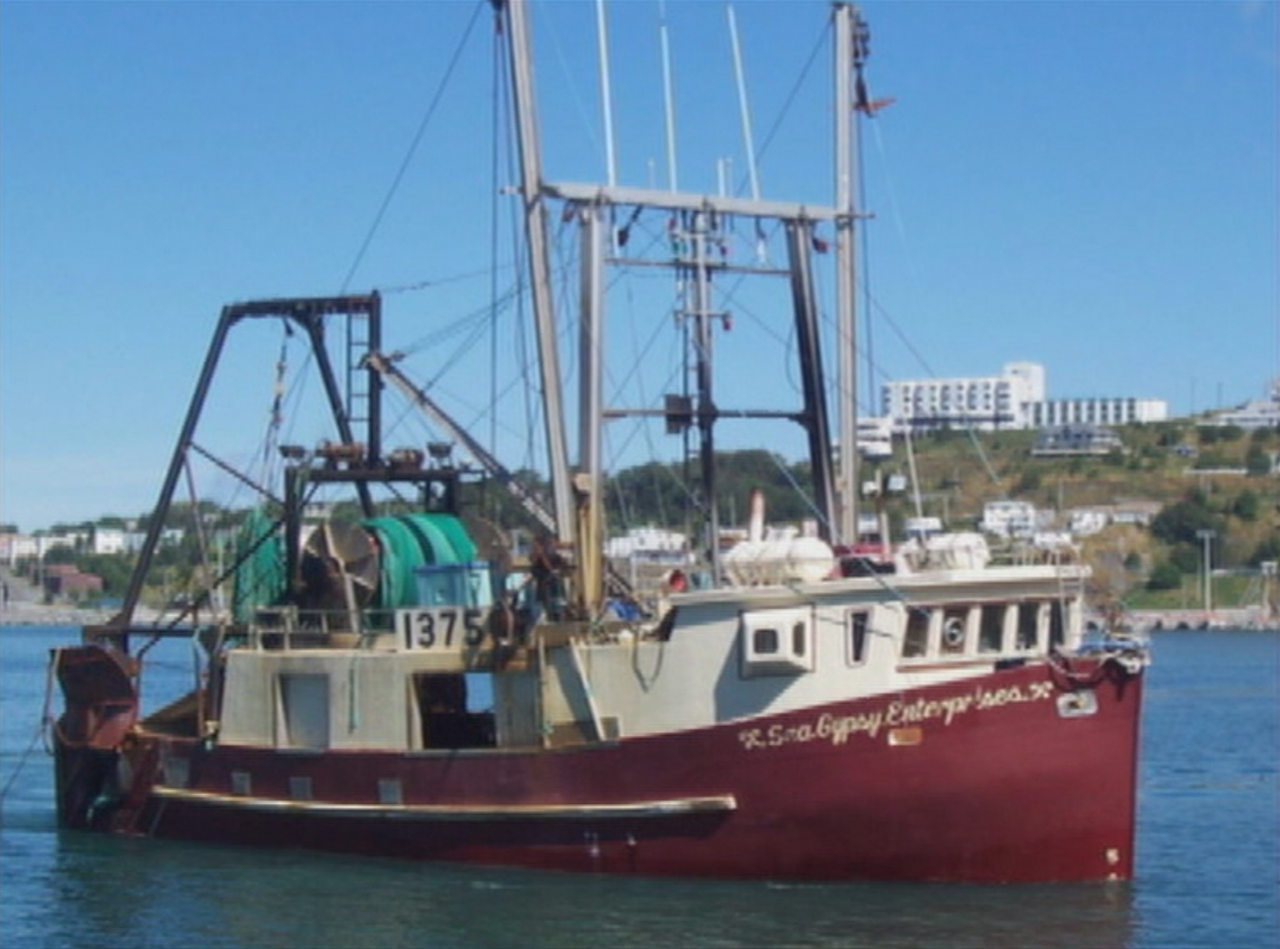 An archival photo of the Sea Gypsy. (CBC)