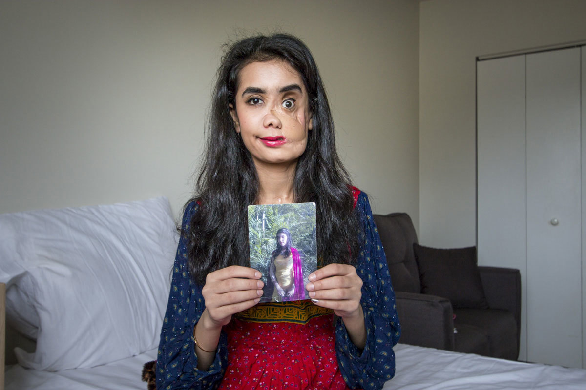 Shakila in her Vancouver home in 2018. (Tina Lovgreen/CBC)