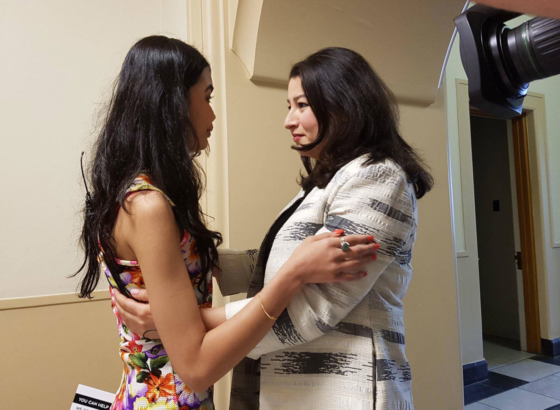 Last June, Shakila met MP Maryam Monsef, who was also an Afghan refugee. (Submitted by Shakila Zareen)