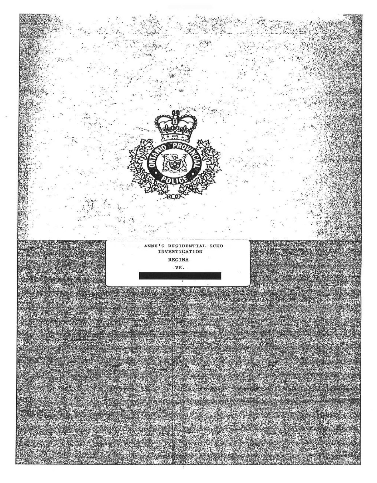The cover page for one of the OPP investigation documents. (CBC)