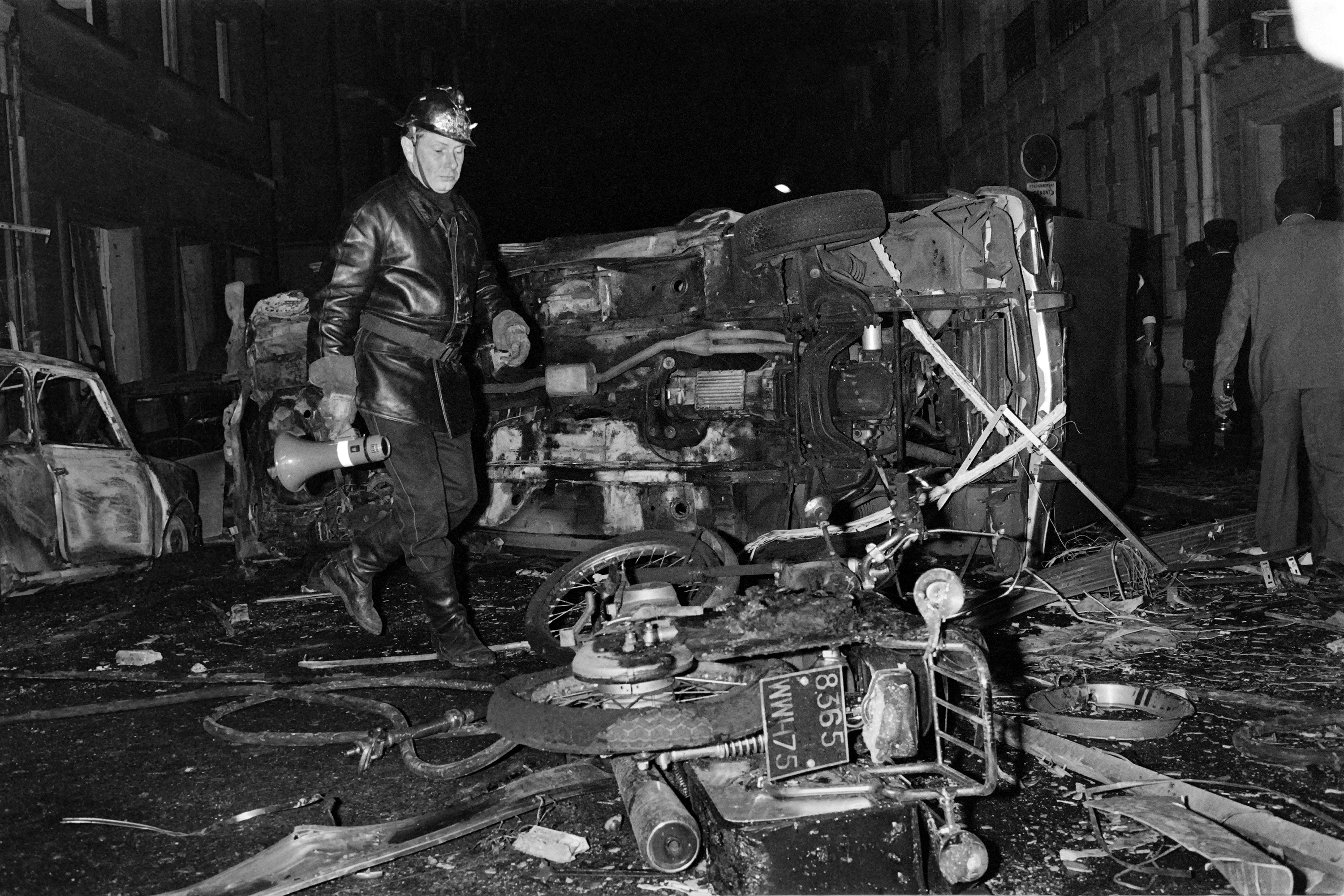 The bombing of the synagogue on Rue Copernic in Paris on Oct. 3, 1980, killed four people. (Georges Bendrihem/AFP/Getty)