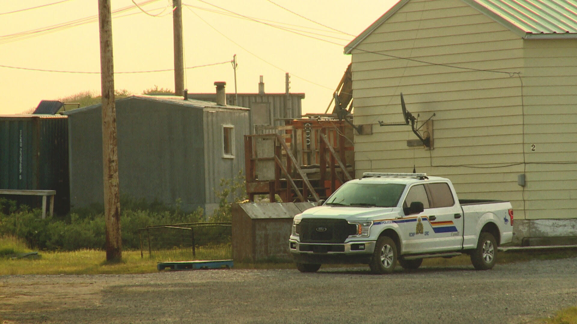 There are five RCMP officers stationed in Kugluktuk but one officer is usually on vacation or in training. (Hilary Bird/CBC)