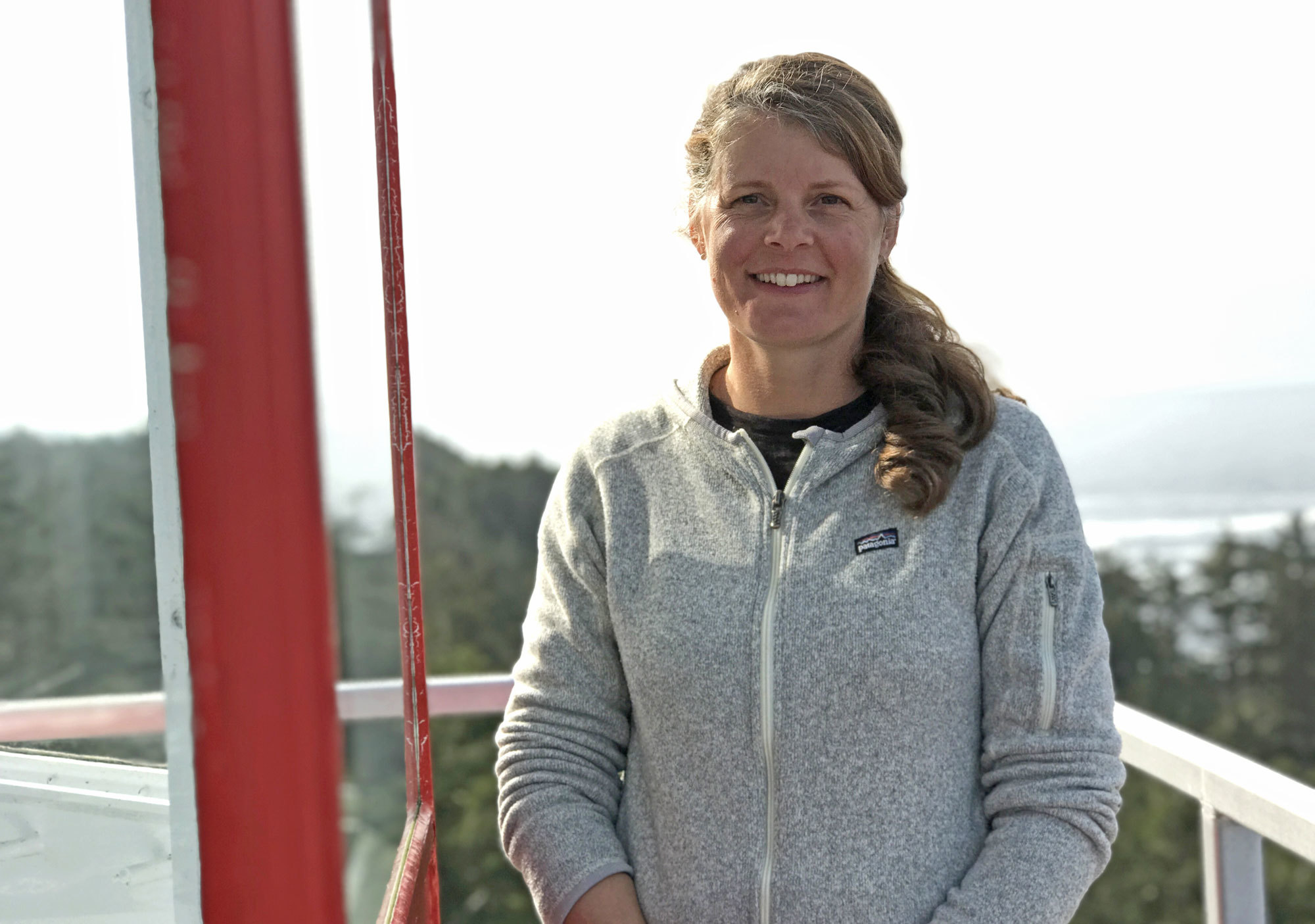 Karen Zacharuk has been the lightkeeper at Cape Beale for 12 years. (Megan Thomas/CBC)